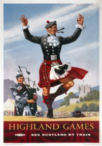 Vintage Scotland travel poster by London Midland and Scottish Railways